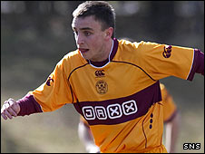 Motherwell striker Steven Lawless