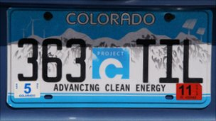 A Colorado number plate