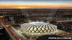 Artist's impression of revamped stadium in Manaus (image from portal2014.org.br)