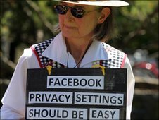 Facebook privacy protester