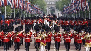 The Trooping of the Colour on the Mall