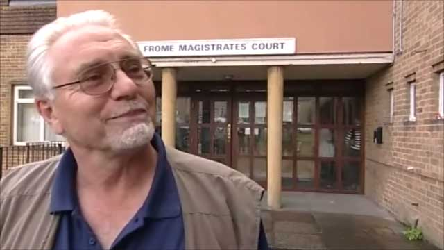 Dave Crisp outside Frome Magistrates Court