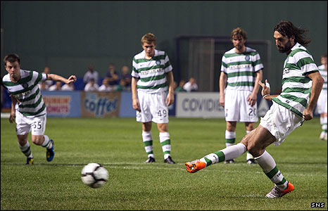 Georgios Samaras scores from the penalty spot