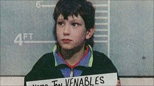 Jon Venables, aged 10