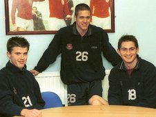 Michael Carrick, Joe Cole and Frank Lampard