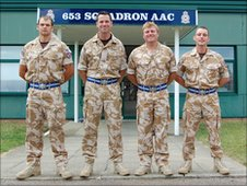 3 Regiment Army Air Corps, 653 squadron members at Wattisham Station