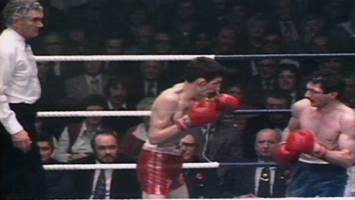 Johnny Owen v Paul Ferreri for the Commonwealth bantamweight title at Ebbw Vale Leisure Centre, November 1978