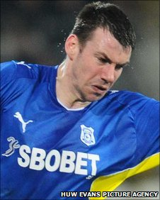 Cardiff City defender Paul Quinn