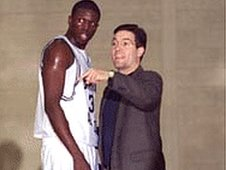 Luol with Coach Mantegna