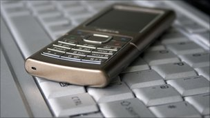 Mobile and keyboard, BBC