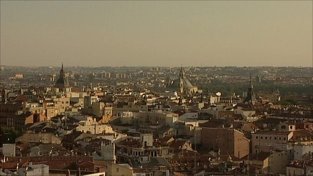 Madrid city view