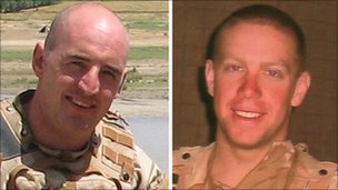L/Cpl Monkhouse (left) and Cpl Stenton and were shot dead as they rescued a wounded colleague