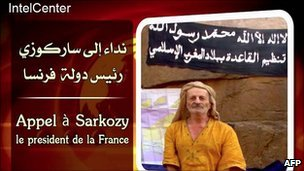 Image from a video showing French hostage Michel Germaneau distributed by IntelCenter, May 2010