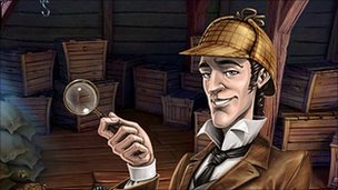 Screenshot from Sherlock Holmes and the Mystery of Osborne House (Nintendo DS)