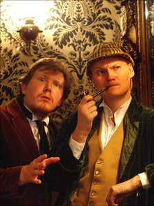 Matthew Woodcock and Peter Davis in  Sherlock (Abridged)