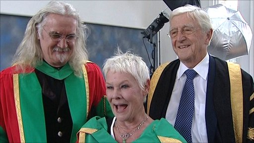 Dame Judi Dench and Billy Connolly receive honorary degrees at Nottingham Trent University