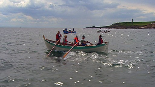 St Ayles skiffs off Anstruther