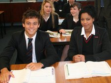 Achieng at school with class mate Tom Daley