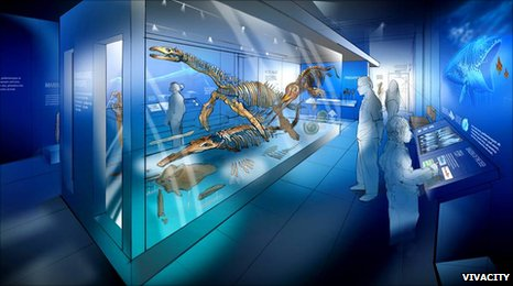 Artist's impression of new geology gallery, Peterborough Museum