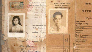 ID cards belonging to Saing Soenthrith's father and an aunt