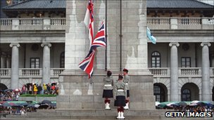 Cenotaph in Hong Kong shortly before 1997 handover