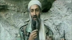 Bin Laden exhorting all Muslims to go to war against America in October 2001