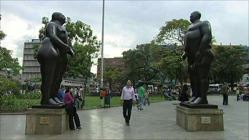 Sculptures in Medellin