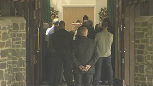Barry Rubery's funeral at Westerleigh Crematorium in Bristol