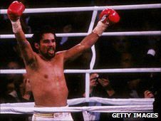 Roberto Duran during his third night against Sugar Ray Leonard