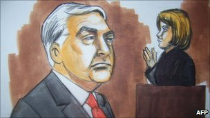 Conrad Black, pictured in a court drawing, 23 July 2010