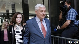 Conrad Black and his wife, Barbara Amiel