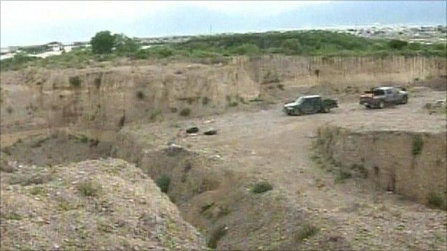 The pit in Nuevo Leon