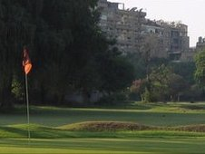 Golf course in Zamalek, Egypt