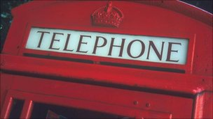 Red telephone box (generic)