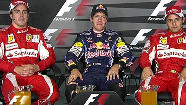Top three qualifying drivers for German Grand Prix