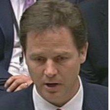 Britain's deputy Prime Minister, Nick Clegg