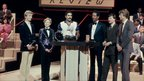 Christopher Dean, Jayne Torvill, winner Daley Thompson, Alex Higgins and Steve Cram at 1982 Sports Personality of the Year