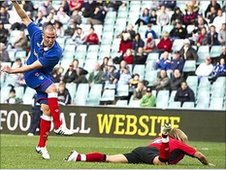 Kenny Miller scores Rangers' second in their 2-1 win over Blackburn