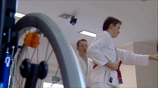 The karate club for disabled people in Cardiff