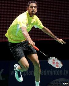 Badminton singles player Rajiv Ouseph