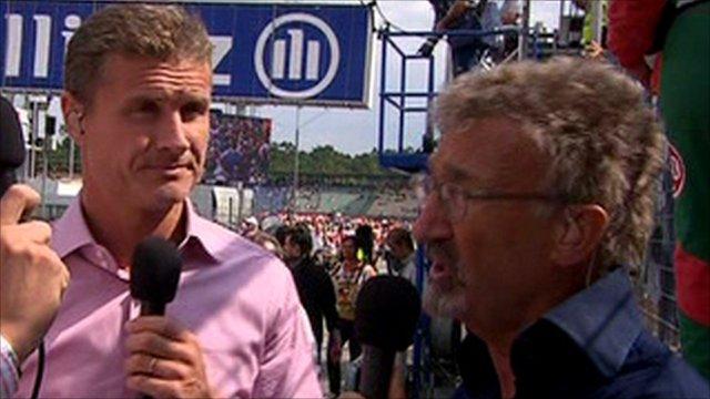 David Coulthard and Eddie Jordan
