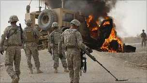 US troops near Kandahar 24.7.10