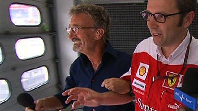 Eddie Jordan tracks down Ferrari team principal Stefano Domenicali
