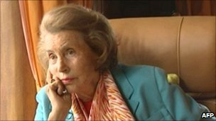 Liliane Bettencourt during a TV interview on 14 July 2010