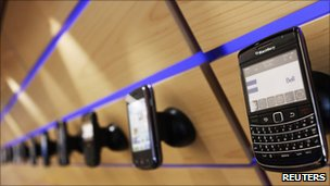 BlackBerry's in shop