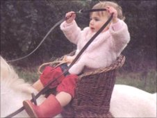 Susi in childhood on horse