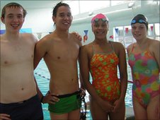 Swimmers at City of Peterborough Swimming Club