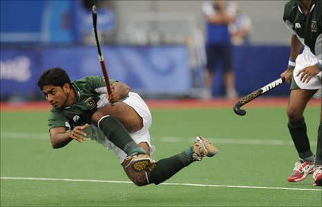 Member of the Pakistan hockey team