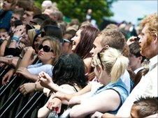 Crowd at Splendour Festival, Wollaton Park, Nottingham on Saturday, 24 July 2010