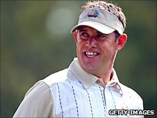 Lee Westwood pictured at the 2008 Ryder Cup